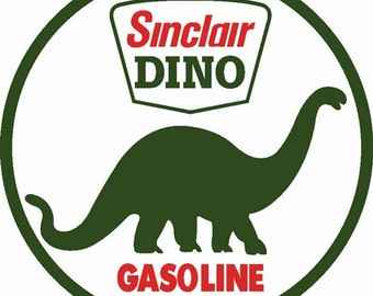 Sinclair DINO Gasoline Baked Enamel Metal Advertising Sign Vintage Gas Oil Retro Style Garage Art Wall Decor FREE Shipping