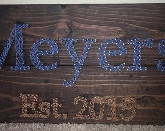 Name & Established String Art