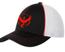 Pokemon Go, Team Valor, Team Valor Hat, Team Red, Baseball Hat, Valor Hat, Valor Cap, Pokemon Go Valor, Men's , Women's, Anime Hat, Red