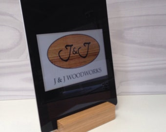 Handmade wooden oak tablet stand iPad kindle nexus