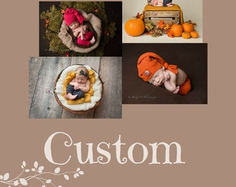 Custom made photo props, Custom upcycled photography props and outfits, Custom handmade newborn props, Handmade newborn props