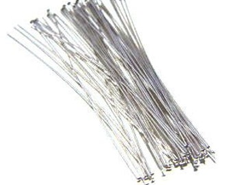 "3"" ~ 24g DuroPlate™ Wire Wrapper Nickel Silver Headpin. Package of 50."