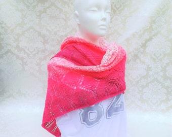 Summerly, scarf, shawl, rose / pink