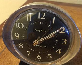 Baby Ben Westclox Vintage Alarm Clock 1950's - works great