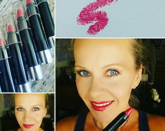 Breast Cancer Awareness Fearless & Passion Set - All natural and long lasting. Soft Pink Lip Gloss and Twist-up Pencil.