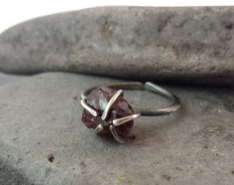 20% OFF Almandine Garnet | Sterling Silver | Adjustable Ring | Size 6