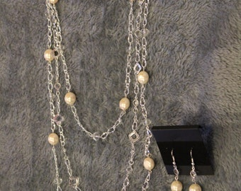 Silver Necklace and Earring Set - Item No. 9