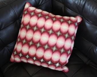 fab retro cushion geometric pattern