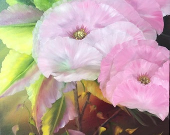 Floral Oil Painting -  An Original painting by Wendy Margrave  - Cozy Posies