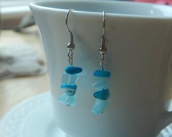 Turquoise and Aqua Dangle Earrings