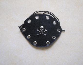 Leather Pirate Decorated Eyepatch Handmade