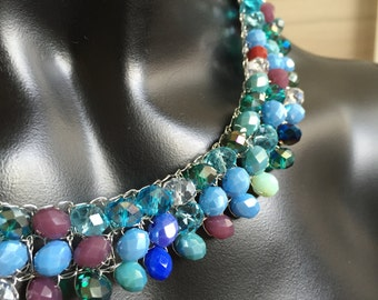 Crystal necklace ,colorful necklace