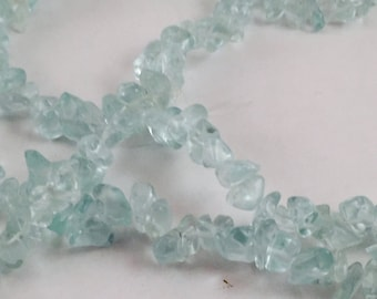 Beads, Teal Chips, Chips, Glass Teal Chips, Green Chips, Teal Green Chips, Medium Chips, Glass Green Chips