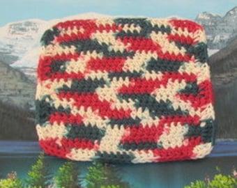 0337 Hand crochet dish cloth 7.5 by 7.5