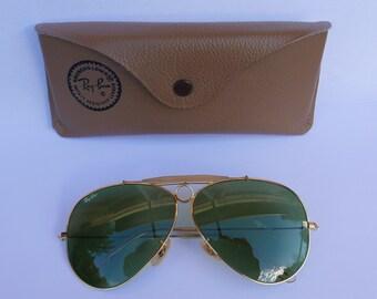 RAY BAN Vintage sunglasses Baush and Lomb Aviator Shooter