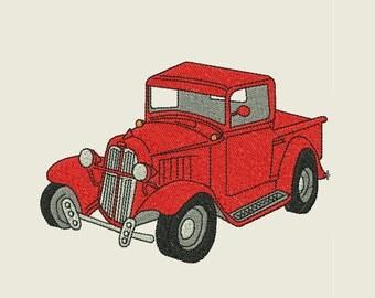 Classic Truck Embroidery Design
