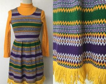 1970's Rasta Vibes Sweater Dress