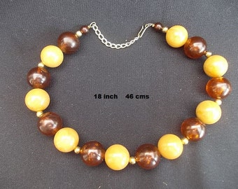 Vintage Faux Amber Beads