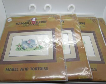 Heritage Stitchcraft The Margaret Sherry Collection Counted Cross Stitch Mabel And Mouse Mabel And Snails Mabel And Bee Mabel And Tortoise