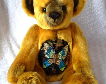 Bekkiebears OOAK teddy bear Moogie