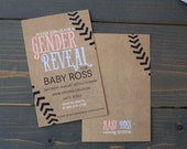 Sports Themed Gender Reveal Party Invitation - Gender Reveal Party - Baseball Themed Gender Reveal Printable - Boy or Girl Party Invitation