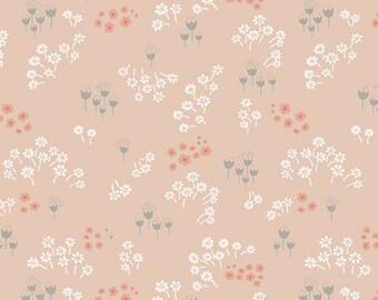 Tenderness Peach LT-20031 < Littlest Collection by Art Gallery Fabrics < Fabric by the Yard > Small Peach Flowers