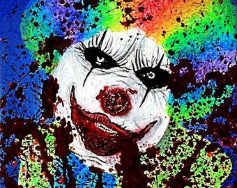We all scream for ice cream clown print
