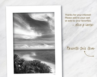 12x18 Black and white fine art photography print. Bahia Honda State Park, Florida