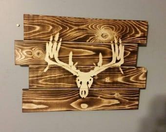 Deer Head Rustic Wall Art