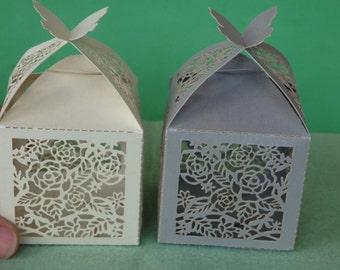 50 wedding favour boxes wedding sweet boxes decoration rose
