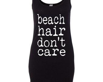 Beach Hair Don't Care Tank Dress - Swim Suit Cover