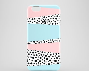Pastels and Dots phone case / doodle iPhone 7 case / iPhone 7 Plus /  polkadots iPhone 6S case, iPhone 6 / iPhone 5/5S / Samsung Galaxy S7