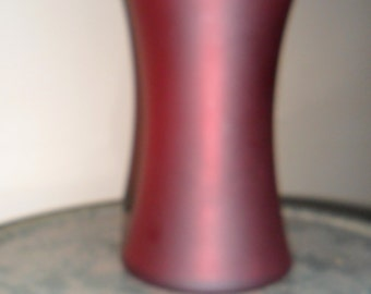 Vintage Stretch Glass - Red 8 inch Vase - Collectible Art Glass - Antique Stretch Vase - Red Stretch Glass (704)