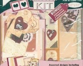 """Free Shipping!  Remember When Deluxe Scrapbook Kit - Romance - 12"""" x 12"""" Paper, Die Cuts, Stickers - New in Package - SNSI2"""
