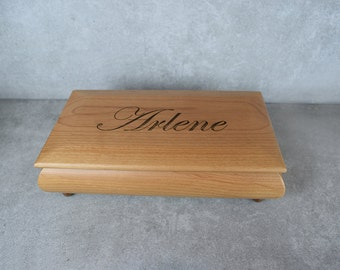 Personalized Red Alder Jewelry Box