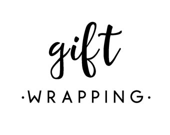 Gift Wrapping & Note