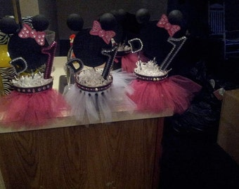 Minnie mouse inspired centerpieces