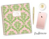 Personalized Sorority Notebook   Greek Notebook   Spiral Bound Notebook   Gold Foil   Custom Notebook   Personal Journal