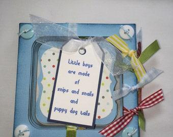 BABY BOY ALBUM, photo book, accordion frame, brag book