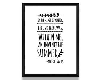 Albert camus poster | Etsy