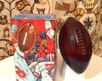 Vintage AVON 1970s First Down Football Decanter Original Box Collectible Glass Decanter