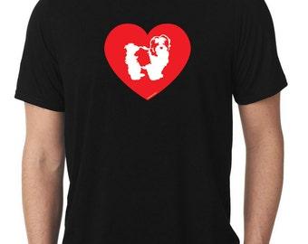 Love Shih Tzu T-Shirt lion dog T254