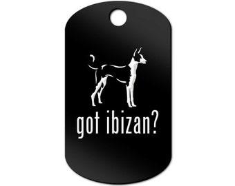 Got Ibizan Engraved GI Tag Key Chain Dog Tag hound - MDT-754