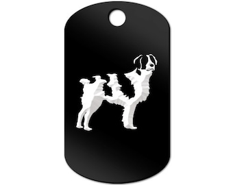 Brittany Engraved GI Tag Key Chain Dog Tag spaniel - MDT-841