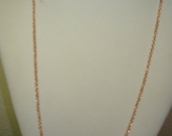 Rose Gold Plated, Rolo Chain, 31 Inches with 3 Inch Extender