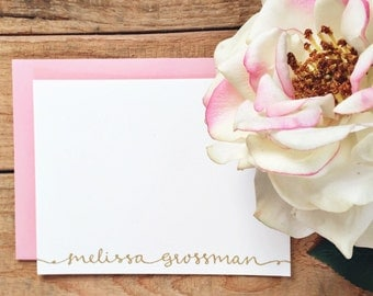 "Sample - Embossed Stationery Flat A2 Note Card - 4.25"" x 5.5"" - 100% Cotton or Luxe White"