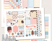 Summer planner stickers,EClp sticker kit,Ice Cream stickers,printable planner stickers for use in Erin Condren planner,planner printable
