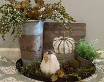 Autumn pumpkin vignette