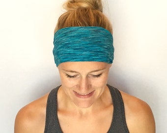 Fitness Headband - Workout Headband - Running Headband - Yoga Headband - Electric Ocean
