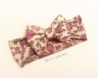 Vintage Floral Turban Bow